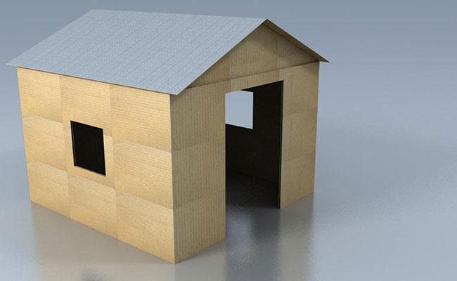 La prima casa fatta di cartone - Casa di cartone ...